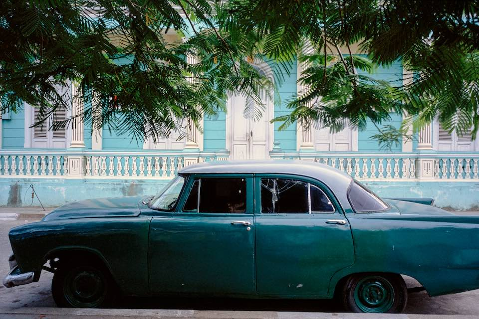Green car, Baracoa, 2003