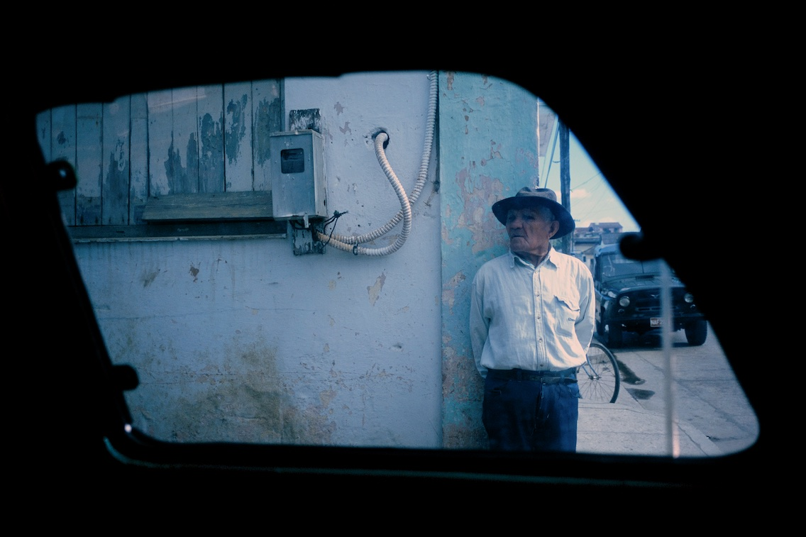 Man on street corner, Baracoa, 2003