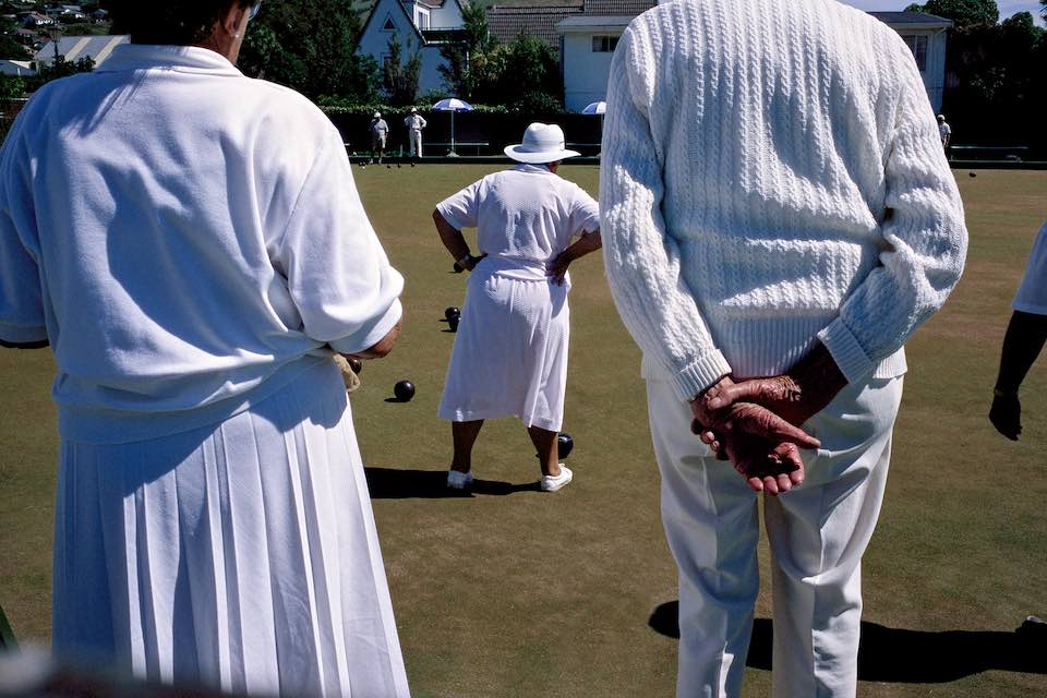 Lawn bowling, Akaroa, New Zealand