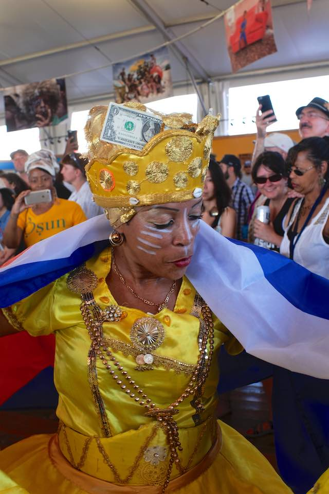 Cuban dancer, Jazz and Heritage Festival